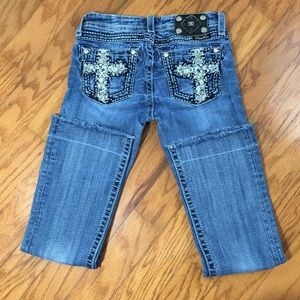 Miss Me Girls Boot Cut Embellished Jeans Size 14